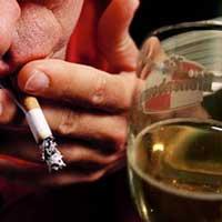 Алкоголь и табак.